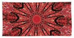 Mandala Of Autumn Woods Beach Towel