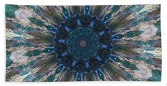 Mandala Of Blue Glass Beach Towel