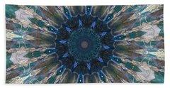 Mandala Of Blue Glass Beach Towel