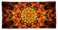 Mandala Of The Sun In A Dark Kingdom Beach Towel