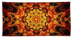 Mandala Of The Sun In A Dark Kingdom Beach Sheet