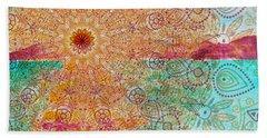 Mandala Sets Over The Dunes Beach Sheet
