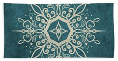 Mandala Teal And Tan Beach Towel