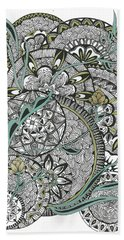 Mandalas With Gold Flowers Beach Towel