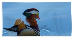 Majestic Mandarin Duck Beach Towel
