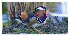 Mandarin On The Move Beach Towel