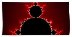 Mandelbrot Set Black And Red Square Format Beach Sheet