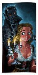 Manga Vampire And Woman Horror Beach Towel