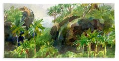 Mangaia Cliffs Beach Towel