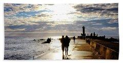 Beach Towel featuring the photograph Mangalsala Pier by Fabrizio Troiani