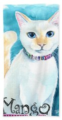 Mango - Flame Point Siamese Cat Painting Beach Sheet