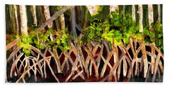 Beach Sheet featuring the painting Mangrove At Gumbo Limbo by Donna Walsh