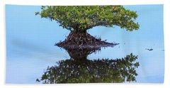 Mangrove Reflection Beach Towel