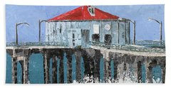 Manhattan Beach Pier Beach Towel