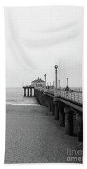 Manhattan Beach Pier On Film Beach Towel