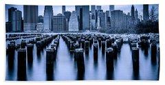 Beach Sheet featuring the photograph Manhattan Blues by Chris Lord