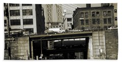Old New York Photo - Dumbo District Brooklyn Beach Towel