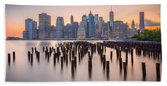 Manhattan Dusk Beach Towel