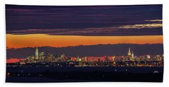 Manhattan Lights Beach Towel