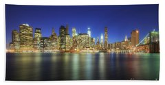 Manhattan Nite Lites Nyc Beach Towel