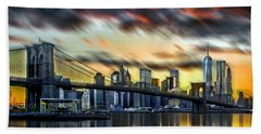 Manhattan Passion Beach Towel by Az Jackson