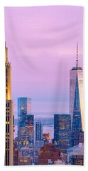 Manhattan Romance Beach Towel