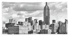 Manhattan Skyline No. 7-2 Beach Sheet by Sandy Taylor