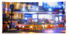 Manhattan Taxi Squadron Beach Towel by Mark Andrew Thomas