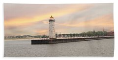 Manistee North Pierhead Lighthouse Beach Towel