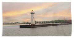 Manistee North Pierhead Lighthouse Beach Sheet