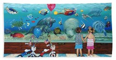 Manitee Aquarium With My Twins Beach Sheet