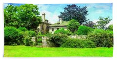 Mansion And Gardens At Harkness Park. Beach Towel