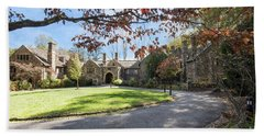 Mansion At Ridley Creek Beach Towel by Judy Wolinsky