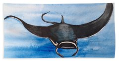 Manta Ray Beach Towel