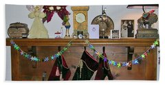 Mantel With Mask Beach Towel