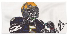 Manti Te'o 1 Beach Sheet by Jeremiah Colley