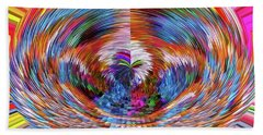 Beach Towel featuring the digital art Many Colors Of Love  by Annie Zeno