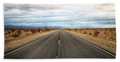 Many Miles Through Mojave Desert Beach Sheet