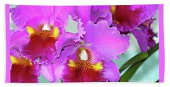 Many Purple Orchids Beach Towel by Lehua Pekelo-Stearns