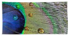 Many Water Drops Beach Towel