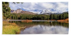 Beach Towel featuring the photograph Manzanita Lake - Mount Lassen by James Eddy
