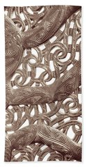 Maori Abstract Beach Towel