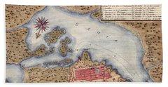 Map Of San Juan 1770 Beach Sheet by Andrew Fare