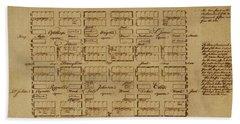 Map Of Savannah 1761 Beach Towel