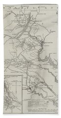 Map Of The Seat Of War In Virginia Beach Towel