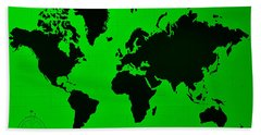 Beach Towel featuring the photograph Map Of The World Green by Rob Hans