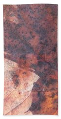 Maple Leaf And Grass Beach Towel