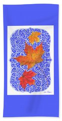Beach Towel featuring the digital art Maple Leaves by Lise Winne