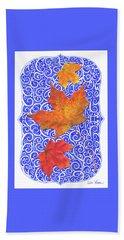 Beach Sheet featuring the digital art Maple Leaves by Lise Winne