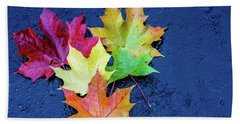 Maple Leaves Beach Towel